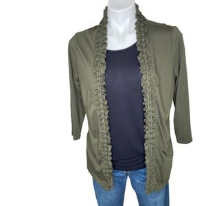Coldwater Creek Olive Green Cardigan